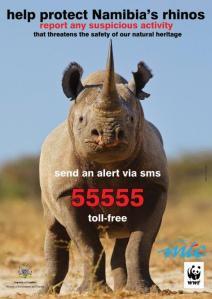 Hotline für Nashornschutz